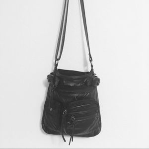 Handbags - black purse w/ gold hardware